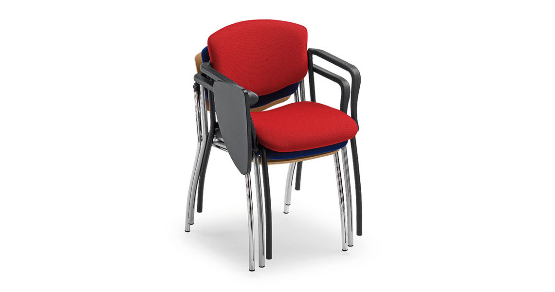 Sedie e poltrone con ribaltina per sale congressi e conferenze - Leyform