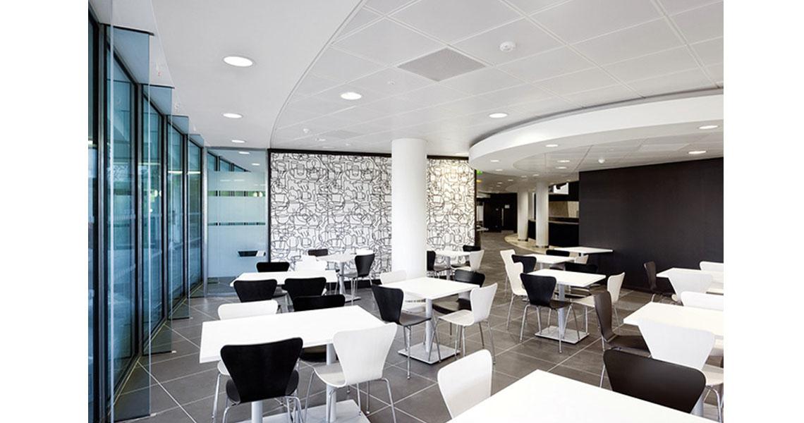 Sgabelli e sedie per sala da pranzo self-service ristorante - Leyform